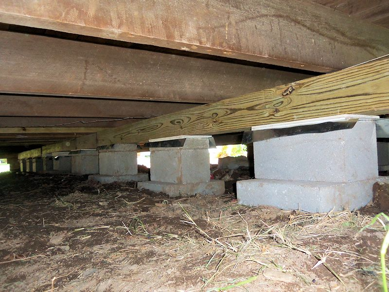 Floor house leveling pier and beam house information for What is a pier foundation